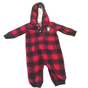 Carter's Plaid Hooded Fleece Onesie